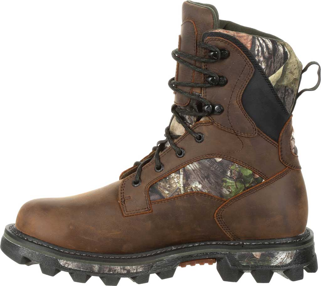 Men's Rocky BearClaw FX 800G Insulated WP Outdoor Boot RKS0399, Brown/Mossy Oak Country Full Grain Leather/Nylon, large, image 3