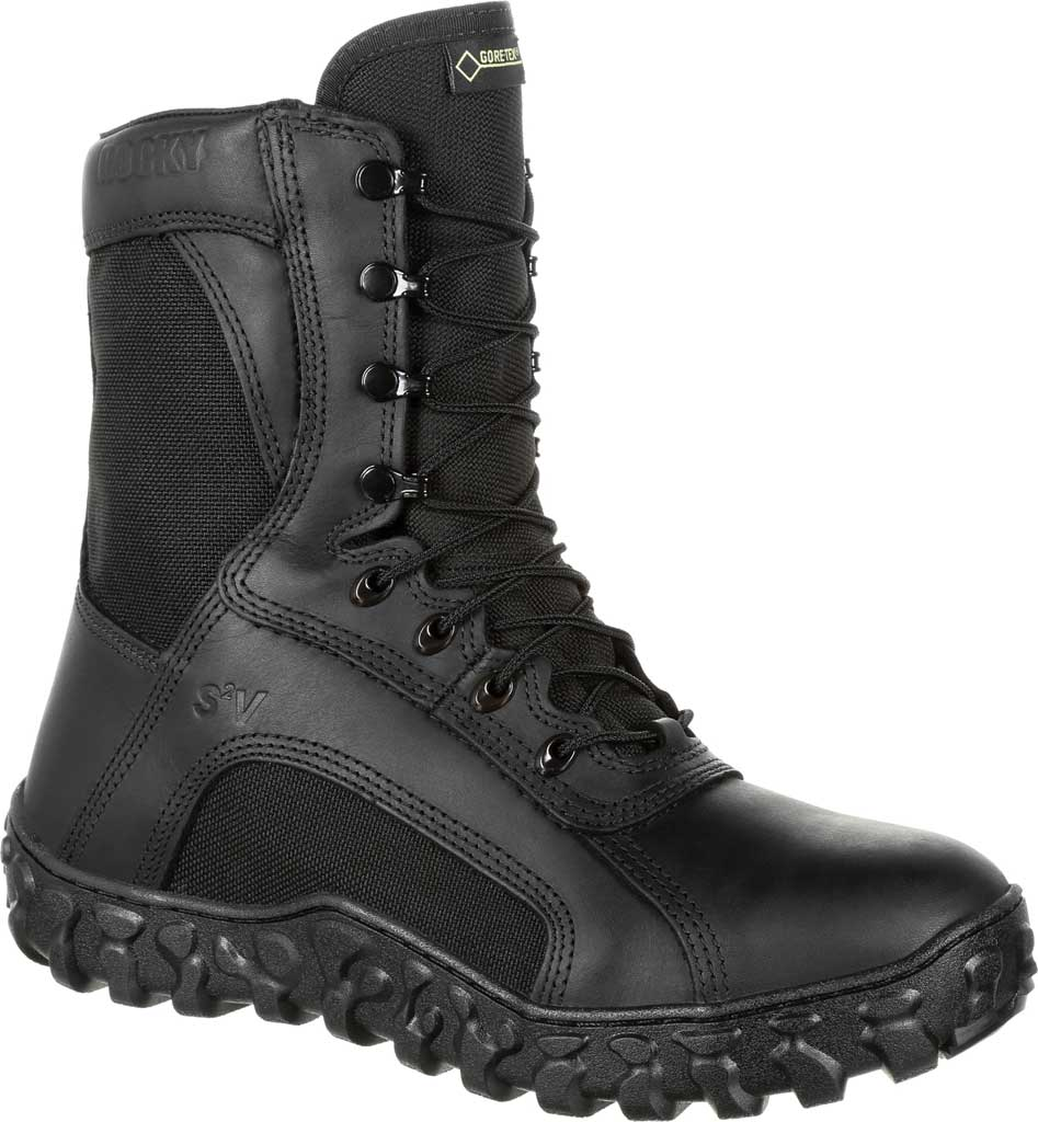 Men's Rocky S2V GTX 400G Insulated Military Boot RKC078, Black Leather/Synthetic, large, image 1