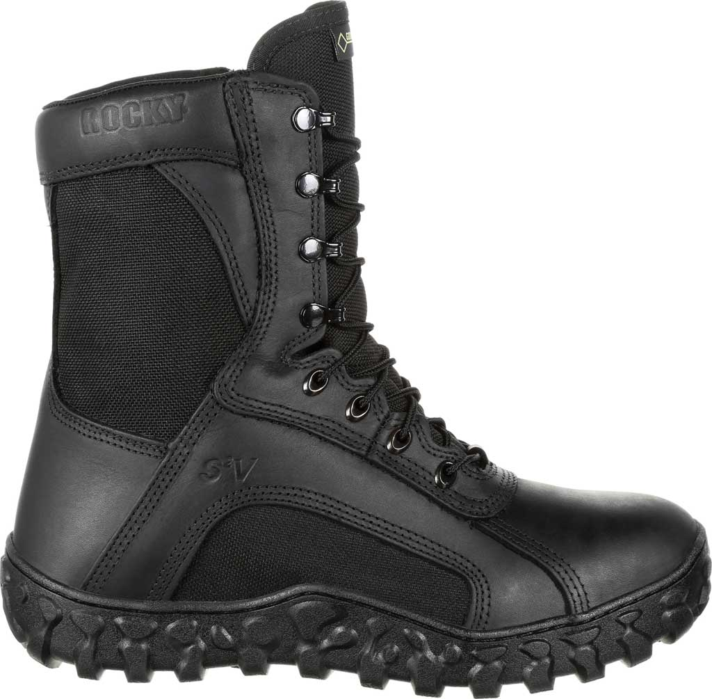 Men's Rocky S2V GTX 400G Insulated Military Boot RKC078, Black Leather/Synthetic, large, image 2