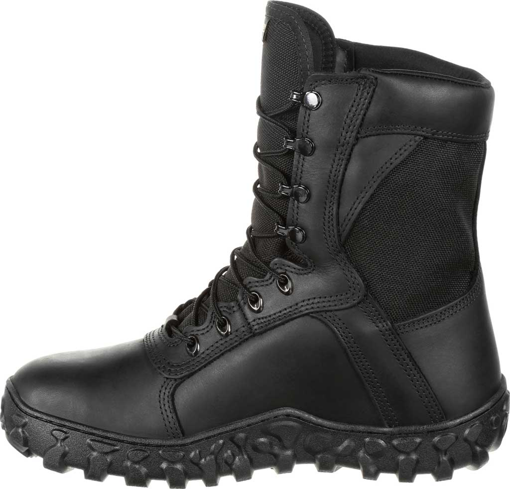 Men's Rocky S2V GTX 400G Insulated Military Boot RKC078, Black Leather/Synthetic, large, image 3