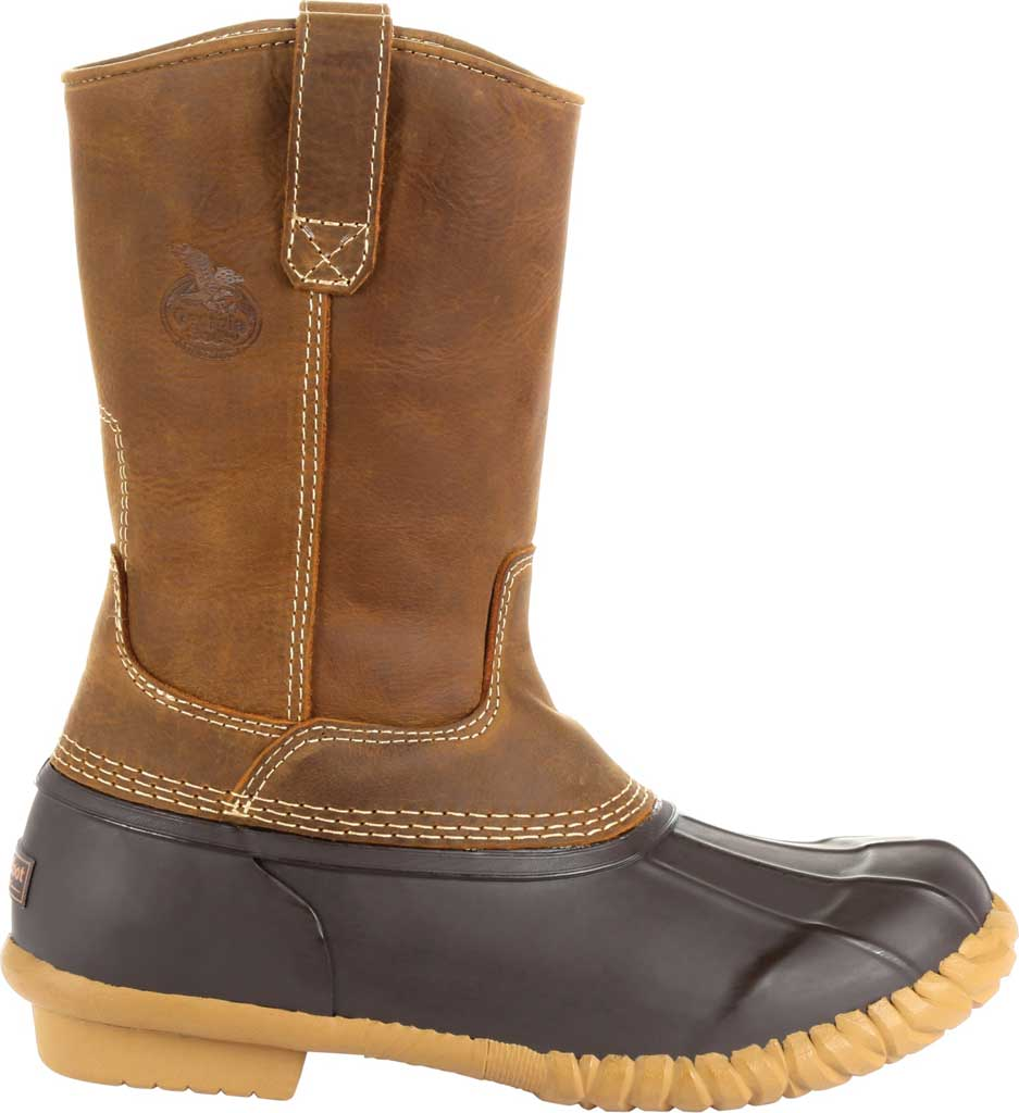 Men's Georgia Boot GB00276 Marshland Pull On Duck Boot, Brown Leather/Textile, large, image 2