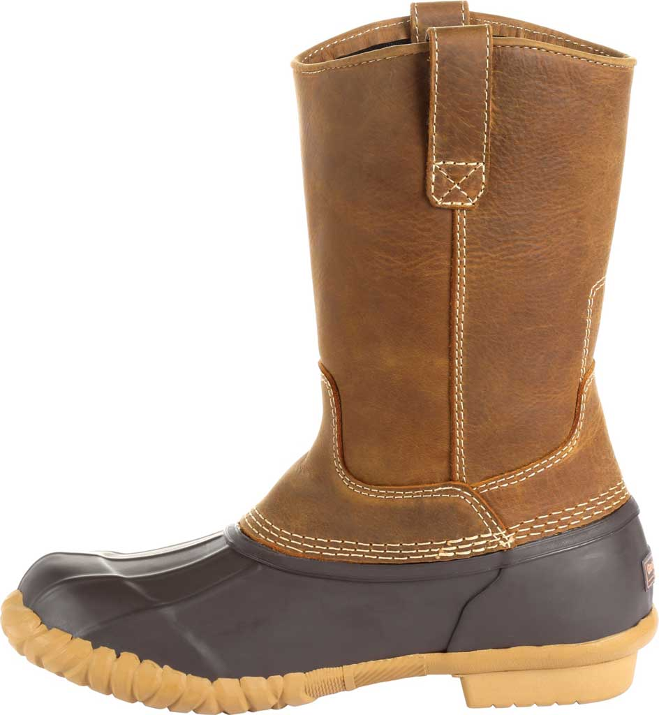 Men's Georgia Boot GB00276 Marshland Pull On Duck Boot, Brown Leather/Textile, large, image 3