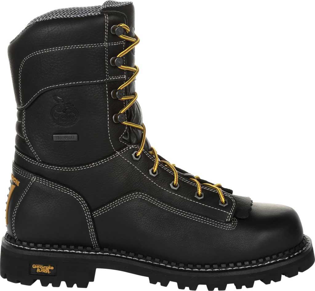 Men's Georgia Boot GB00272 AMP LT Logger Composite Toe Work Boot, Black Full Grain SPR Leather, large, image 2