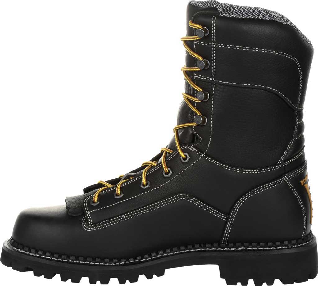 Men's Georgia Boot GB00272 AMP LT Logger Composite Toe Work Boot, Black Full Grain SPR Leather, large, image 3