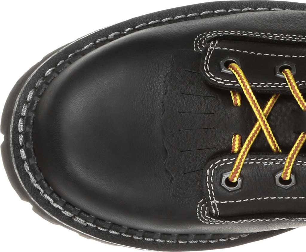 Men's Georgia Boot GB00272 AMP LT Logger Composite Toe Work Boot, Black Full Grain SPR Leather, large, image 5