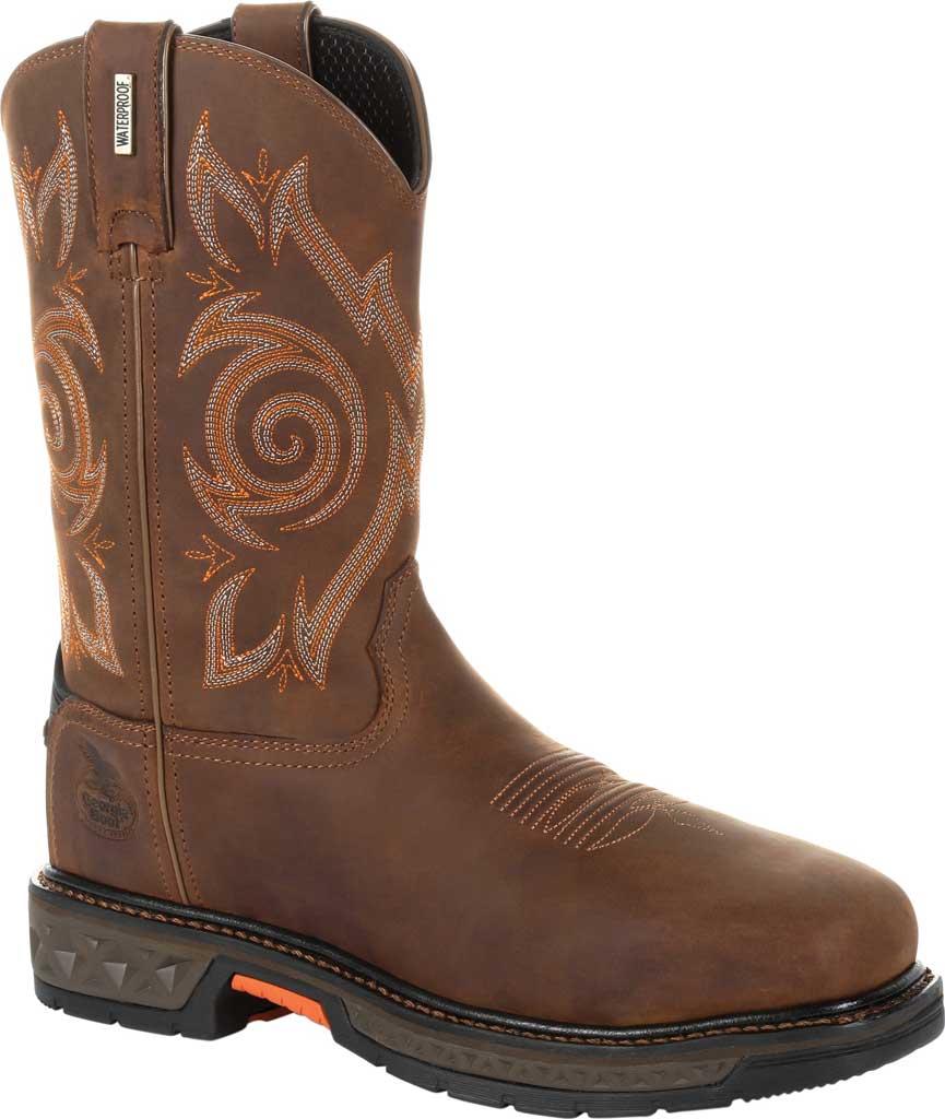 Men's Georgia Boot GB00264 Carbo-Tec LT Steel Toe Work Boot, Brown Full Grain Leather, large, image 1