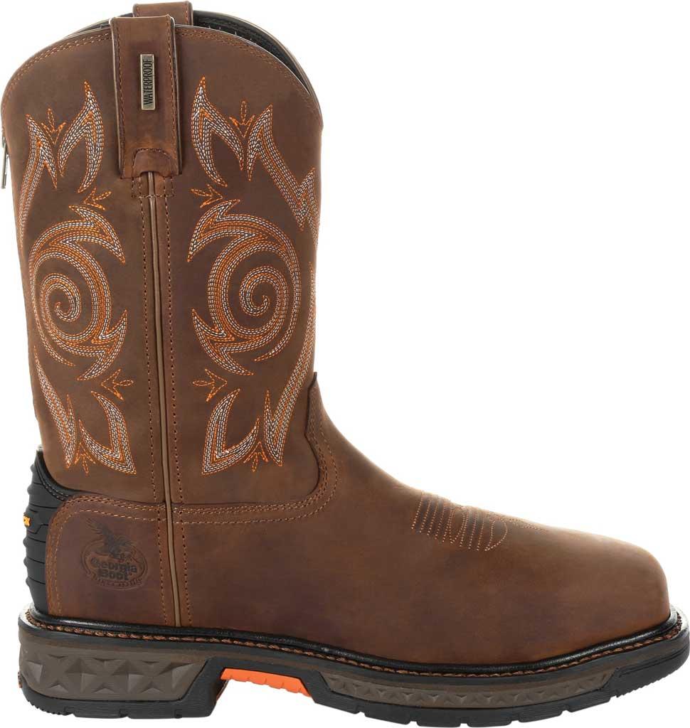 Men's Georgia Boot GB00264 Carbo-Tec LT Steel Toe Work Boot, Brown Full Grain Leather, large, image 2