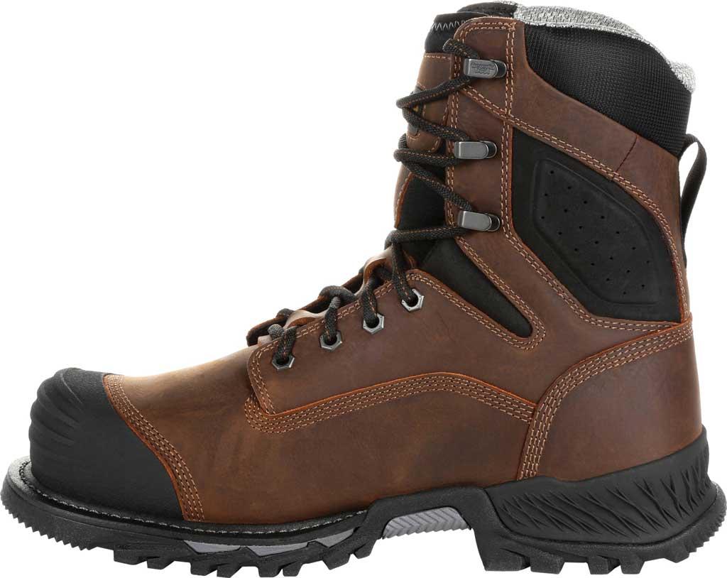 """Men's Georgia Boot GB00284 8"""" Rumbler Comp Toe Waterproof Work Boot, Black/Brown Full Grain Leather, large, image 3"""