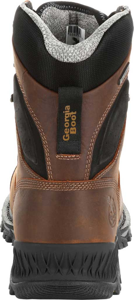"""Men's Georgia Boot GB00284 8"""" Rumbler Comp Toe Waterproof Work Boot, Black/Brown Full Grain Leather, large, image 4"""