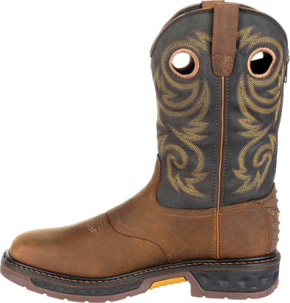 Men's Georgia Boot GB00266 Carbo-Tec LT Waterproof Pull On Work Boot, Black/Brown Full Grain SPR Leather, large, image 3