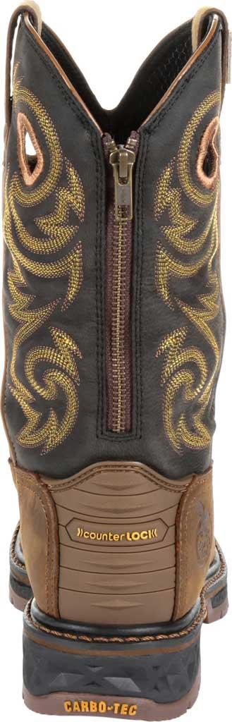 Men's Georgia Boot GB00266 Carbo-Tec LT Waterproof Pull On Work Boot, Black/Brown Full Grain SPR Leather, large, image 4