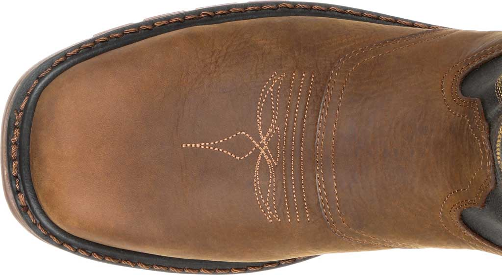 Men's Georgia Boot GB00266 Carbo-Tec LT Waterproof Pull On Work Boot, Black/Brown Full Grain SPR Leather, large, image 5
