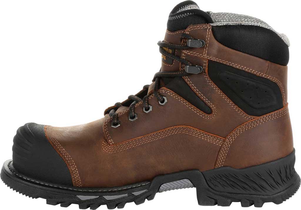 """Men's Georgia Boot GB00284 6"""" Rumbler Comp Toe Waterproof Work Boot, Black/Brown Full Grain Leather, large, image 3"""