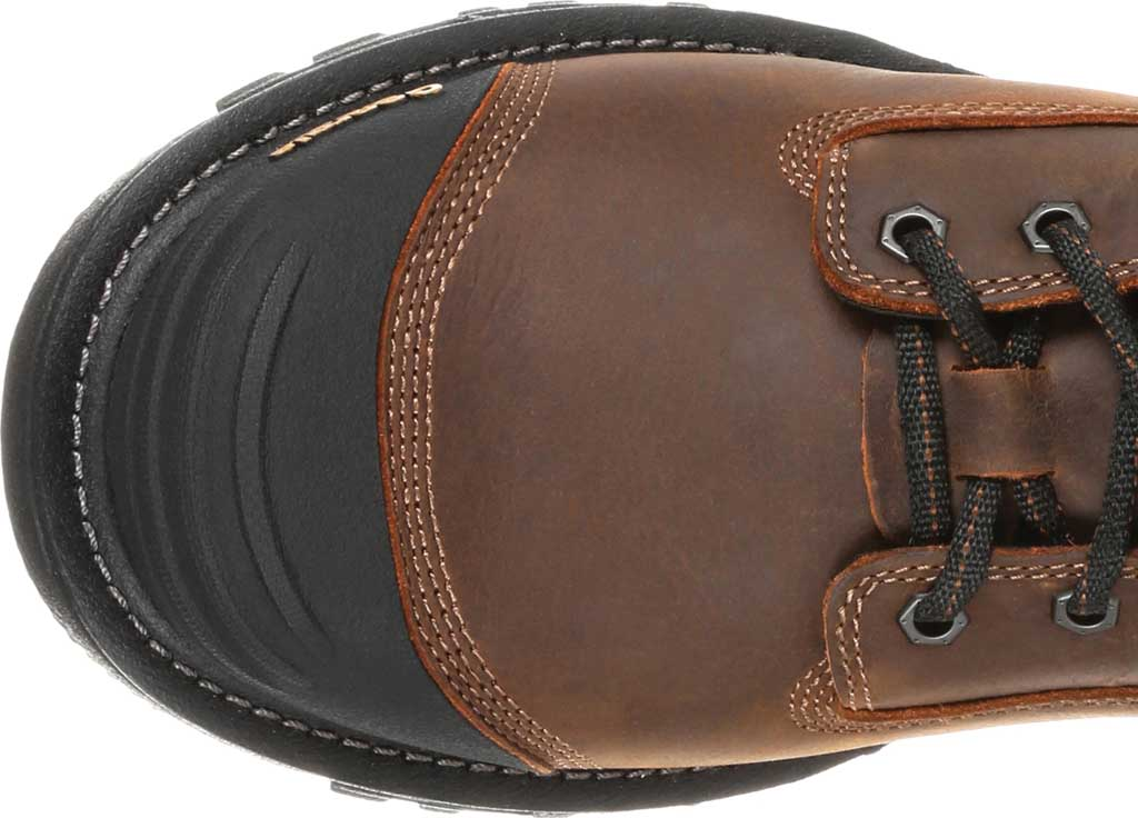 """Men's Georgia Boot GB00284 6"""" Rumbler Comp Toe Waterproof Work Boot, Black/Brown Full Grain Leather, large, image 5"""
