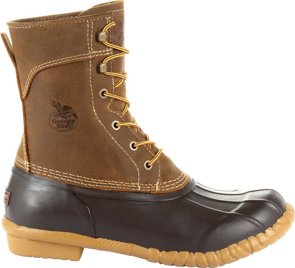 "Men's Georgia Boot GB00275 Marshland 8"" Duck Boot, Brown Full Grain SPR Leather/Rubber, large, image 2"