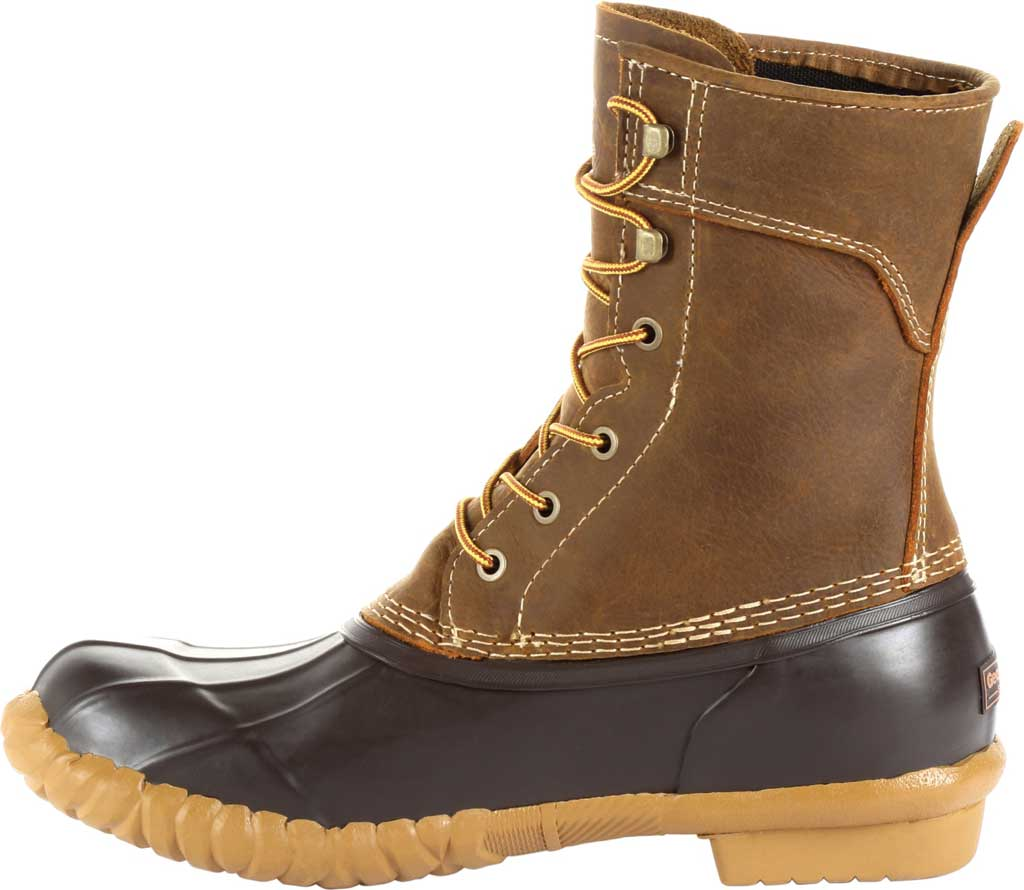 "Men's Georgia Boot GB00275 Marshland 8"" Duck Boot, Brown Full Grain SPR Leather/Rubber, large, image 3"