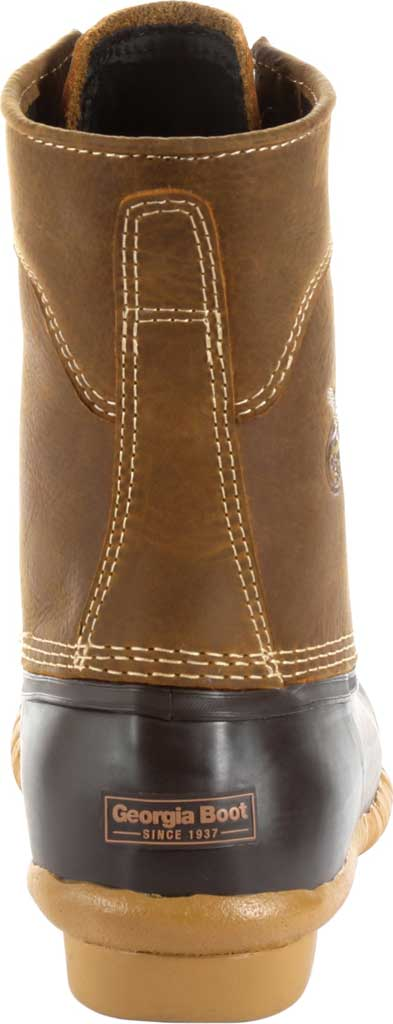 "Men's Georgia Boot GB00275 Marshland 8"" Duck Boot, Brown Full Grain SPR Leather/Rubber, large, image 4"