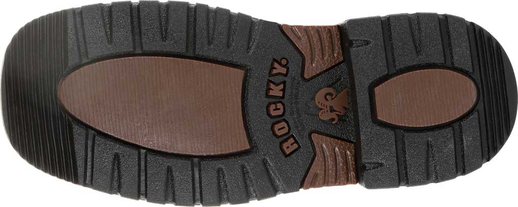 """Children's Rocky 8"""" Ride FLX Western Boot RKW0257Y, Dark Chocolate/Burnt Orange Leather/Synthetic, large, image 6"""