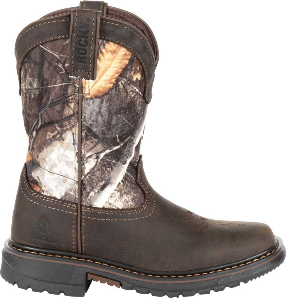 """Children's Rocky 8"""" Ride FLX Waterproof Western Boot RKW0258Y, Brown Realtree Camo Full Grain Leather/Synthetic, large, image 2"""
