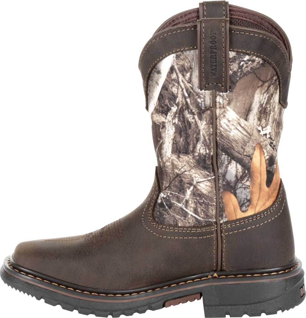 """Children's Rocky 8"""" Ride FLX Waterproof Western Boot RKW0258Y, Brown Realtree Camo Full Grain Leather/Synthetic, large, image 3"""