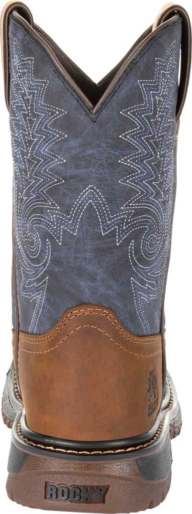 """Children's Rocky 8"""" Ride FLX Western Boot RKW0255C, Denim/Brown Full Grain Leather/Synthetic, large, image 4"""