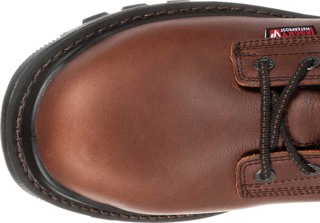 "Men's Rocky 6"" Rams Horn Waterproof Composite Toe Boot RKK0257, Dark Brown Full Grain Leather, large, image 5"