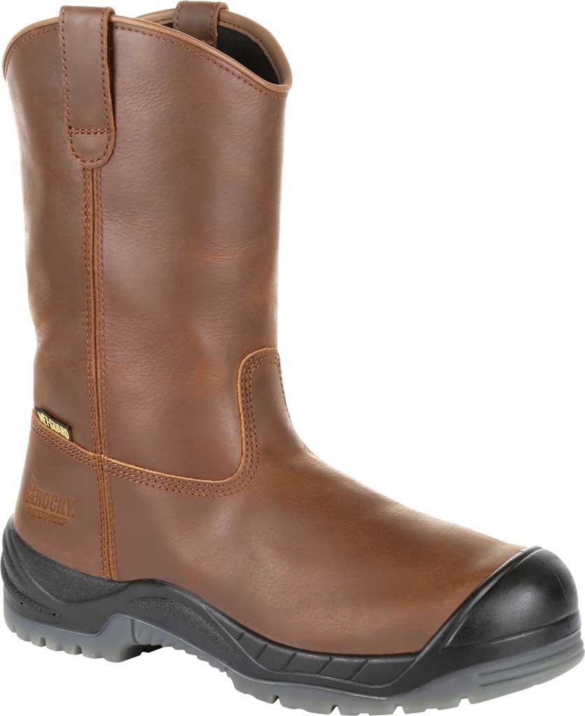 "Men's Rocky 11"" Worksmart CT Internal Met Guard Boot RKK0264, Brown Full Grain Leather, large, image 1"