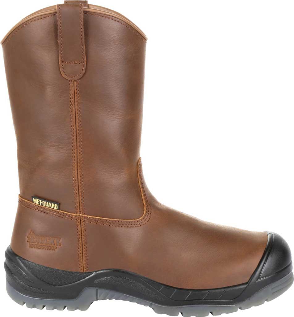 "Men's Rocky 11"" Worksmart CT Internal Met Guard Boot RKK0264, Brown Full Grain Leather, large, image 2"