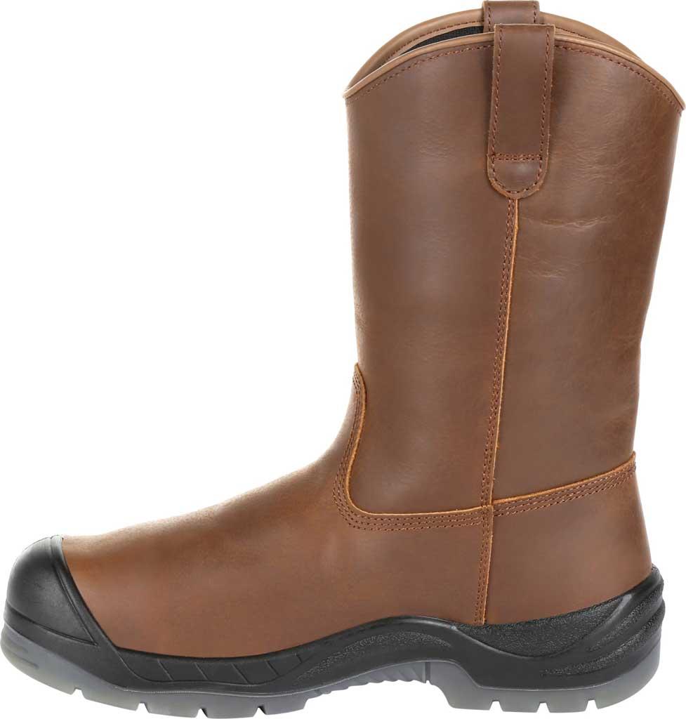 "Men's Rocky 11"" Worksmart CT Internal Met Guard Boot RKK0264, Brown Full Grain Leather, large, image 3"