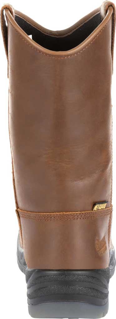 "Men's Rocky 11"" Worksmart CT Internal Met Guard Boot RKK0264, Brown Full Grain Leather, large, image 4"