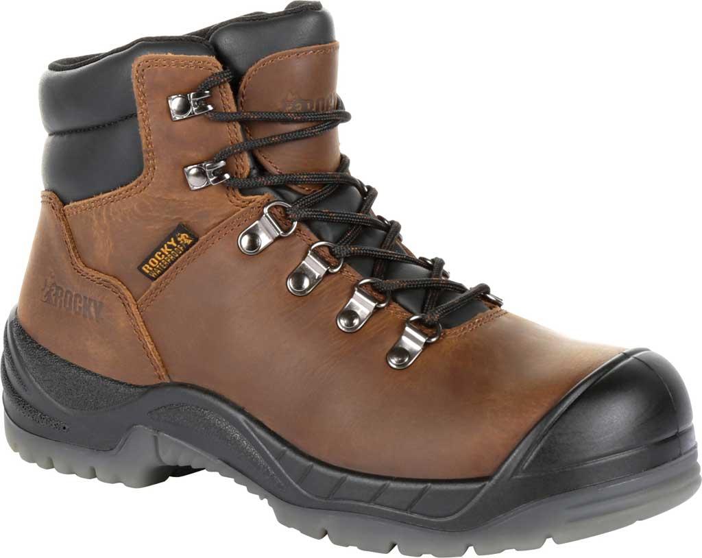 "Women's Rocky 5"" Worksmart Composite Toe Work Boot RKK0265, Brown Full Grain Leather, large, image 1"