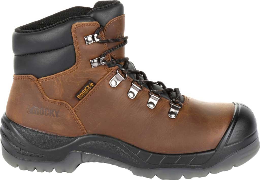 "Women's Rocky 5"" Worksmart Composite Toe Work Boot RKK0265, Brown Full Grain Leather, large, image 2"