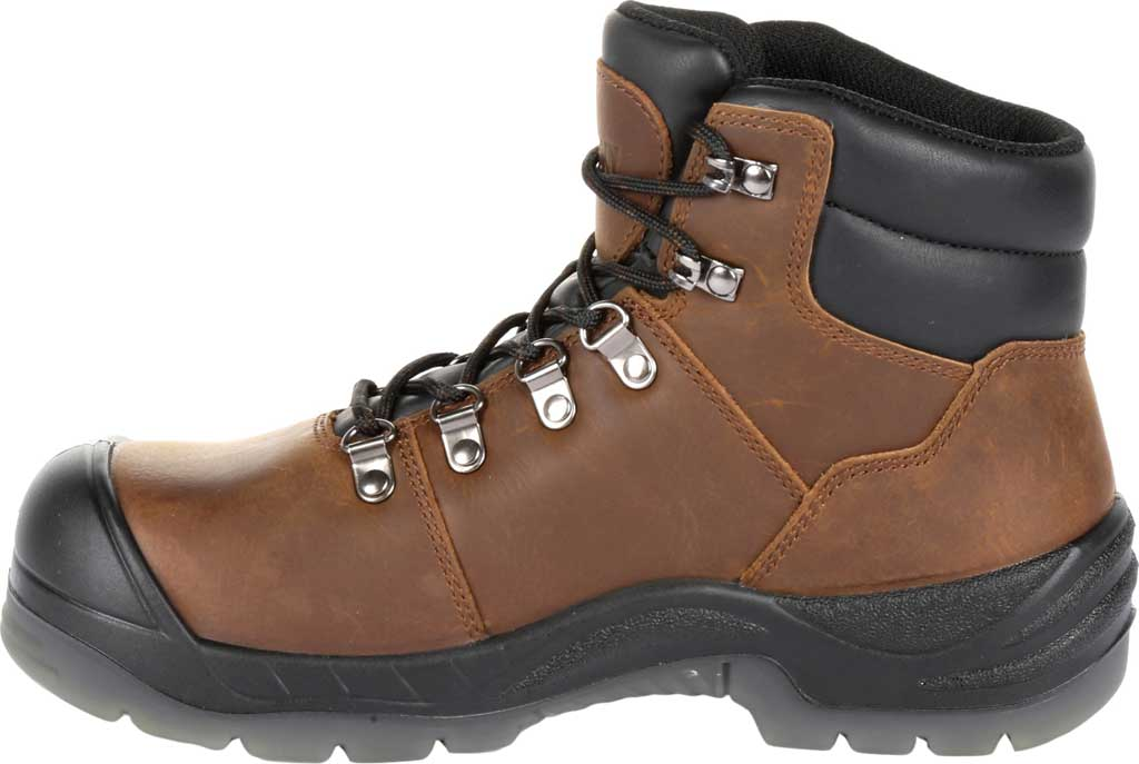 "Women's Rocky 5"" Worksmart Composite Toe Work Boot RKK0265, Brown Full Grain Leather, large, image 3"