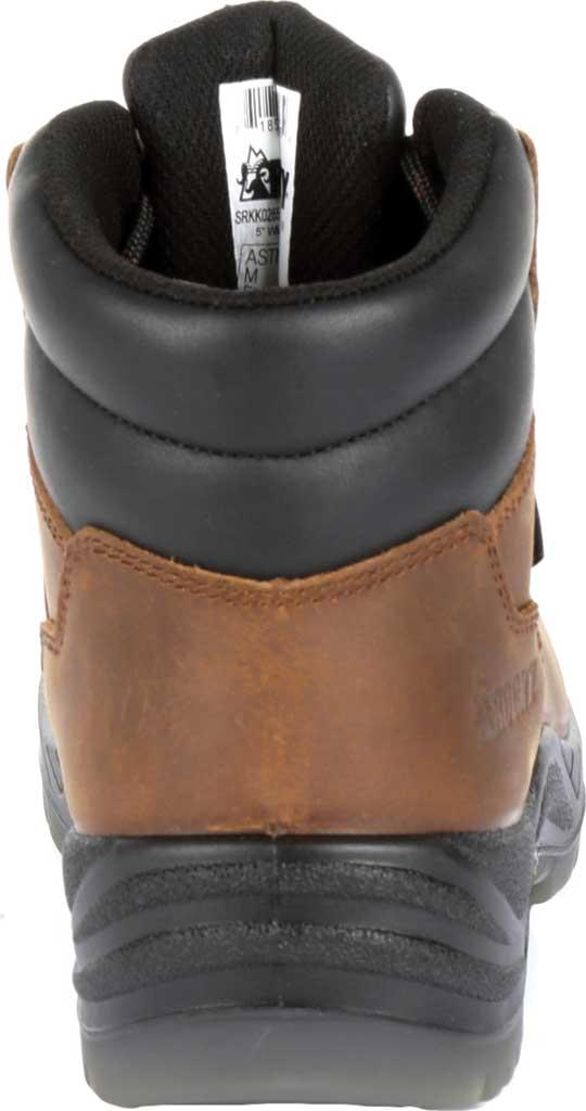 "Women's Rocky 5"" Worksmart Composite Toe Work Boot RKK0265, Brown Full Grain Leather, large, image 4"