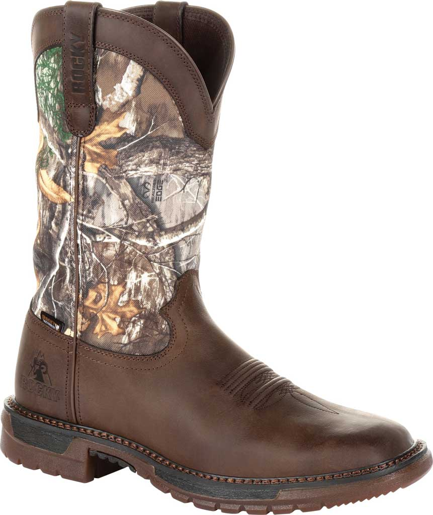 """Men's Rocky 12"""" Original Ride FLX WP Western Boot RKW0253, Brown Realtree Camo Full Grain Leather/Nylon, large, image 1"""