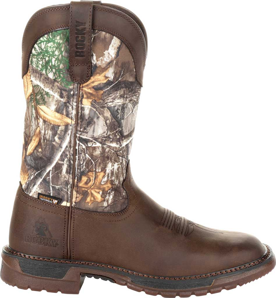 """Men's Rocky 12"""" Original Ride FLX WP Western Boot RKW0253, Brown Realtree Camo Full Grain Leather/Nylon, large, image 2"""