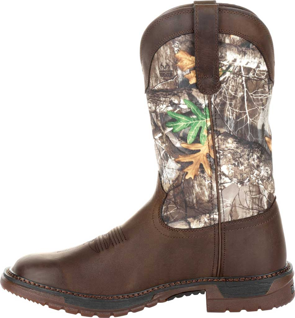 """Men's Rocky 12"""" Original Ride FLX WP Western Boot RKW0253, Brown Realtree Camo Full Grain Leather/Nylon, large, image 3"""