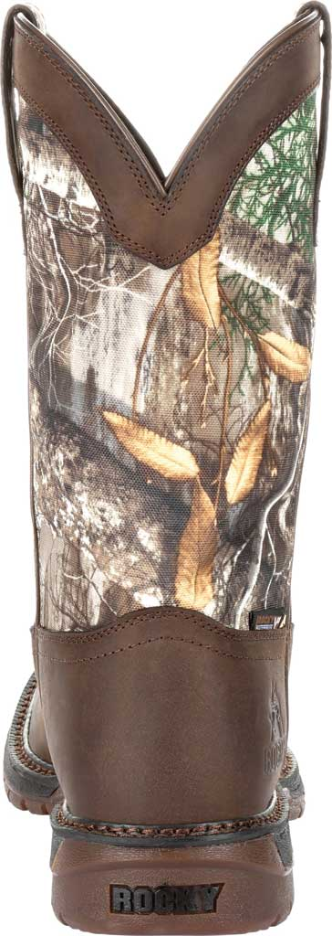 """Men's Rocky 12"""" Original Ride FLX WP Western Boot RKW0253, Brown Realtree Camo Full Grain Leather/Nylon, large, image 4"""