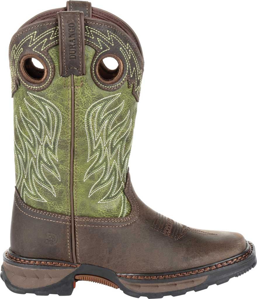 Children's Durango Boot DBT0215Y Maverick XP Western Boot, Oiled Brown/Forest Green Leather/Synthetic, large, image 2
