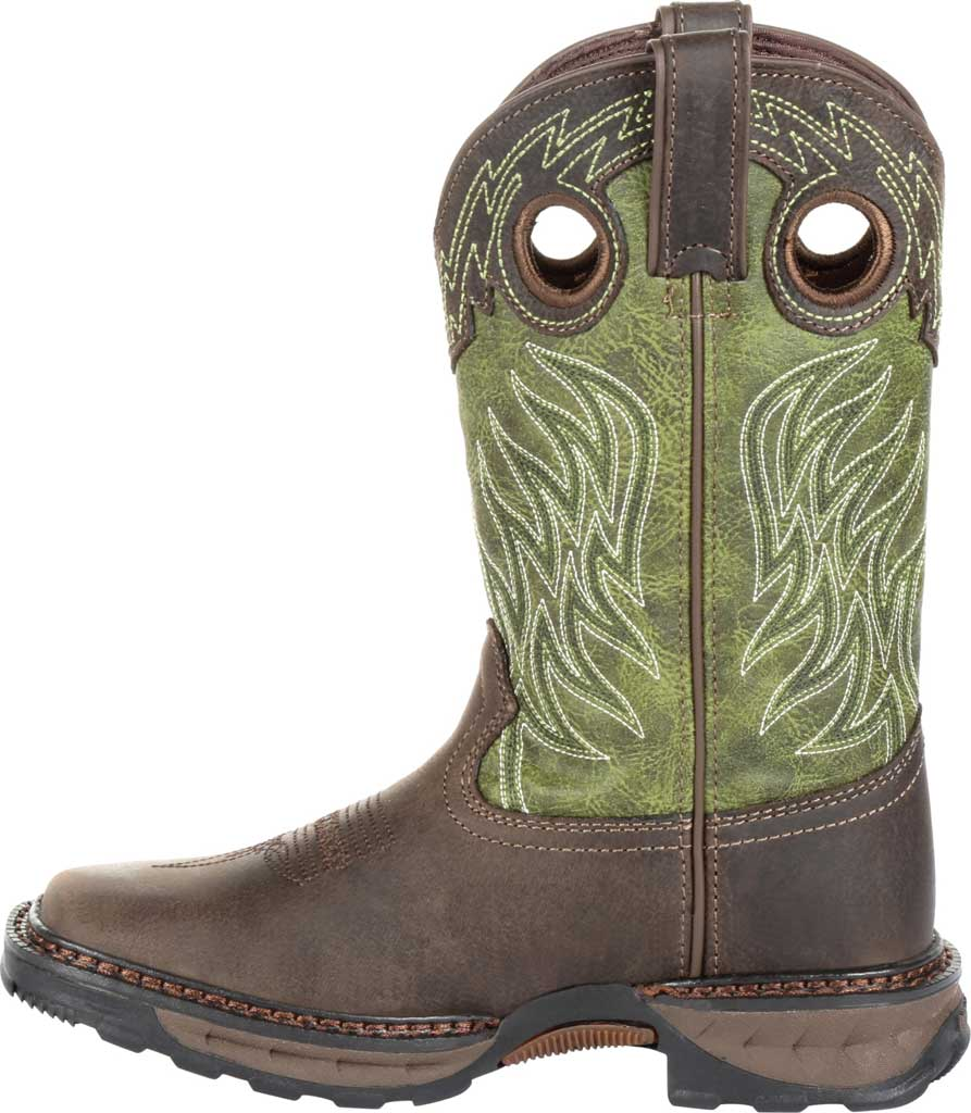 Children's Durango Boot DBT0215Y Maverick XP Western Boot, Oiled Brown/Forest Green Leather/Synthetic, large, image 3