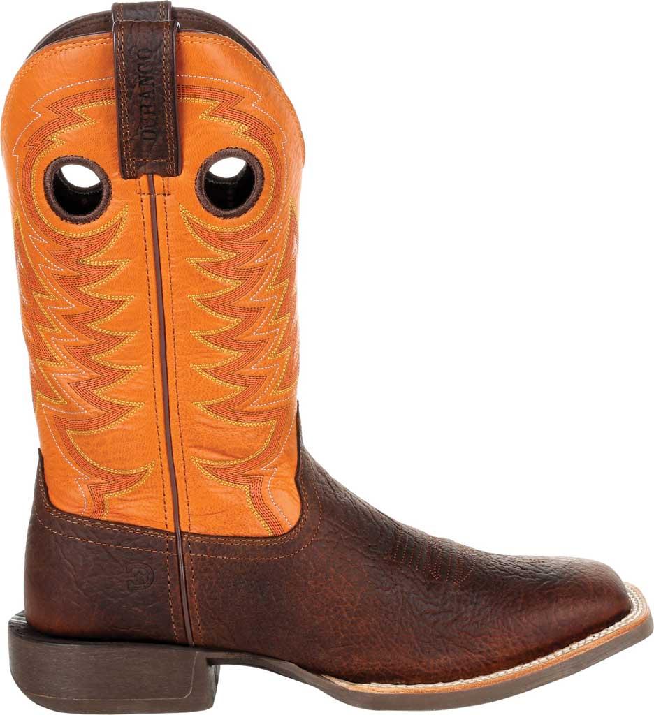 Men's Durango Boot DDB0230 Maverick XP Ventilated Western Work Boot, Bay Brown/Monarch Orange Full Grain Leather, large, image 2