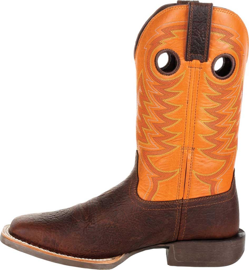 Men's Durango Boot DDB0230 Maverick XP Ventilated Western Work Boot, Bay Brown/Monarch Orange Full Grain Leather, large, image 3