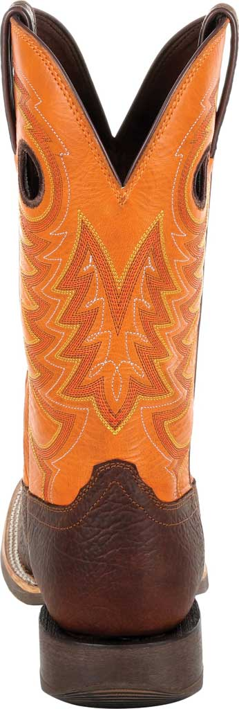 Men's Durango Boot DDB0230 Maverick XP Ventilated Western Work Boot, Bay Brown/Monarch Orange Full Grain Leather, large, image 4