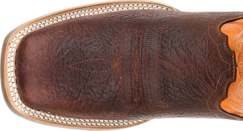 Men's Durango Boot DDB0230 Maverick XP Ventilated Western Work Boot, Bay Brown/Monarch Orange Full Grain Leather, large, image 5