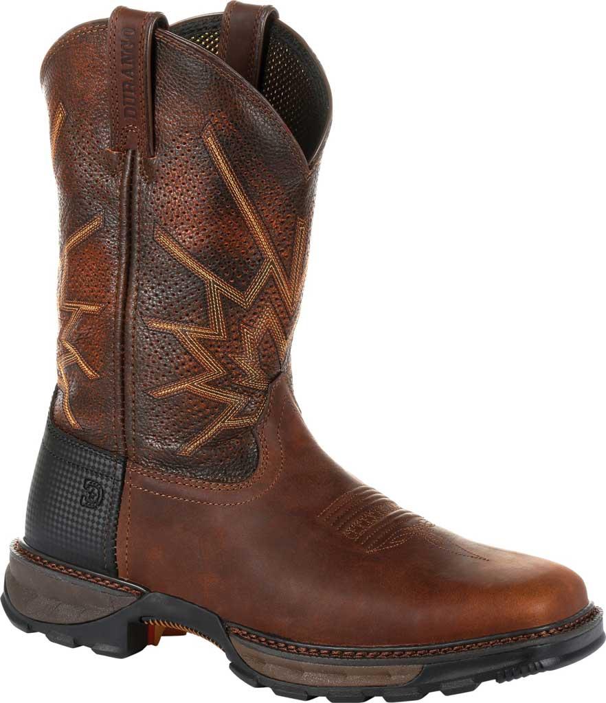 Men's Durango Boot DDB0204 Maverick XP Ventilated Western Work Boot, Tobacco Full Grain Leather, large, image 1