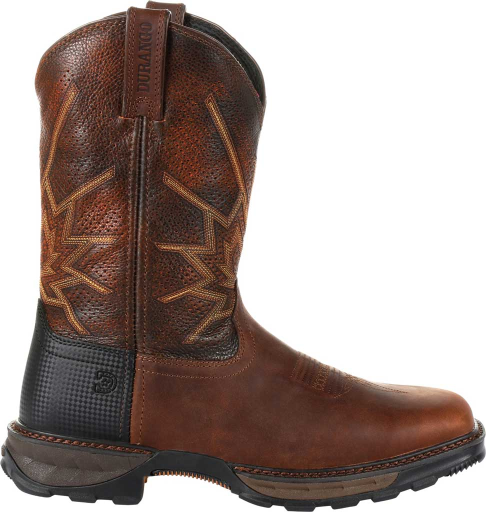 Men's Durango Boot DDB0204 Maverick XP Ventilated Western Work Boot, Tobacco Full Grain Leather, large, image 2