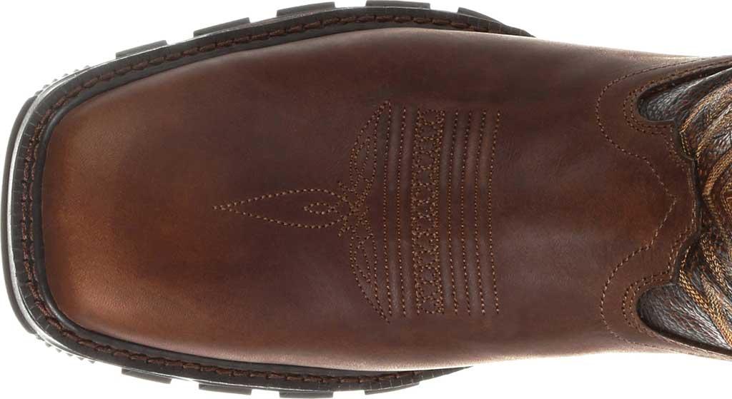 Men's Durango Boot DDB0204 Maverick XP Ventilated Western Work Boot, Tobacco Full Grain Leather, large, image 5