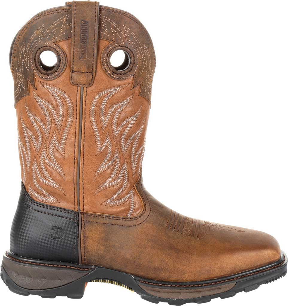 Men's Durango Boot DDB0215 Maverick XP Ventilated Western Work Boot, Rugged Brown/Copper Full Grain Leather/Synthetic, large, image 2