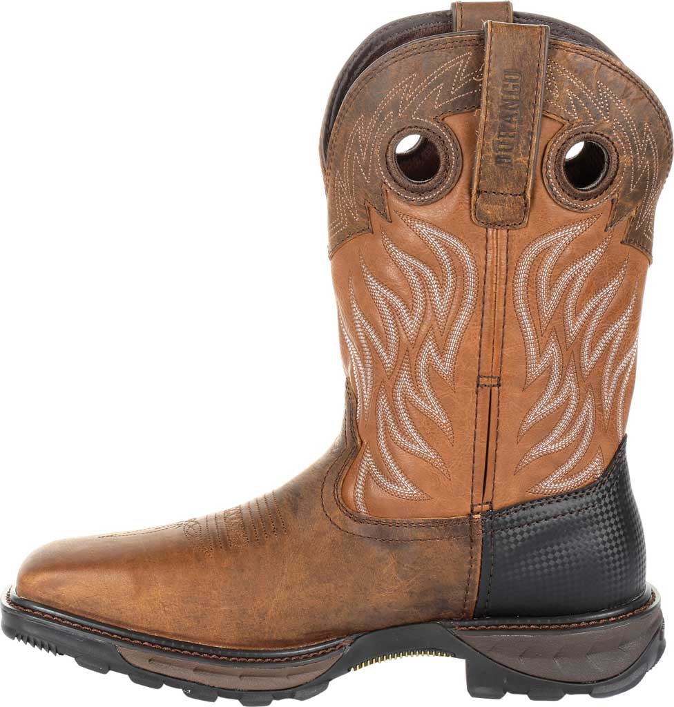 Men's Durango Boot DDB0215 Maverick XP Ventilated Western Work Boot, Rugged Brown/Copper Full Grain Leather/Synthetic, large, image 3