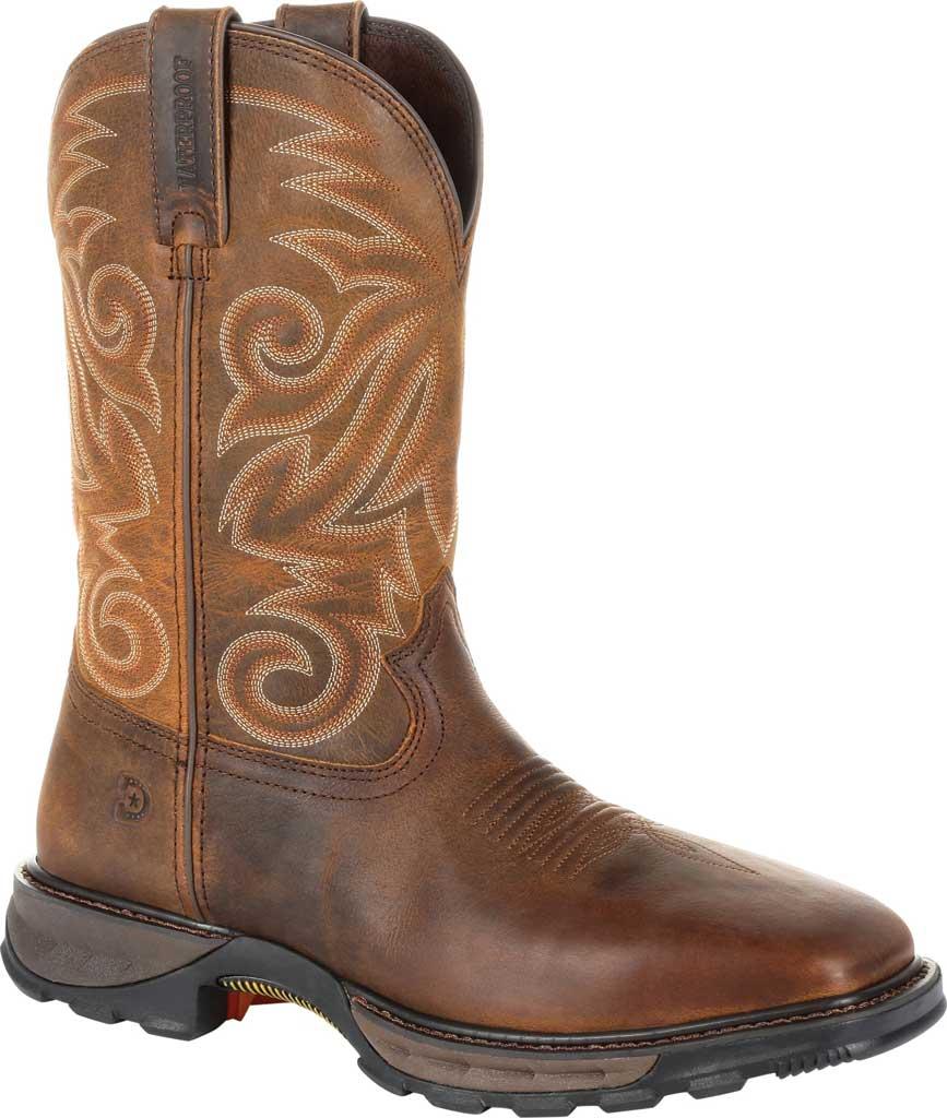 Men's Durango Boot DDB0206 Maverick XP Ventilated Western Work Boot, Burly Brown Full Grain Leather, large, image 1